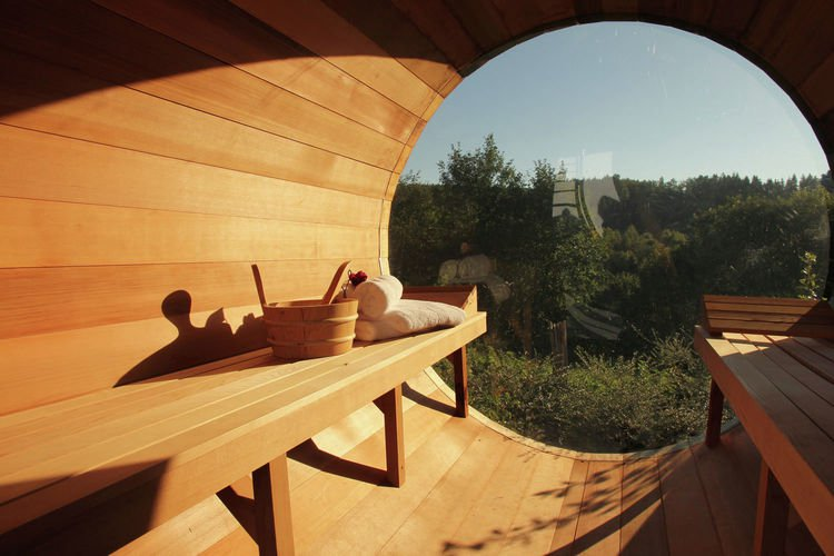 Villa d'Achouffe • La Source • Barrel Sauna